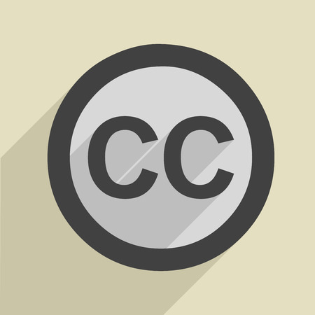 minimalistic illustration of a creative commons icon Stock Vector - 26740111