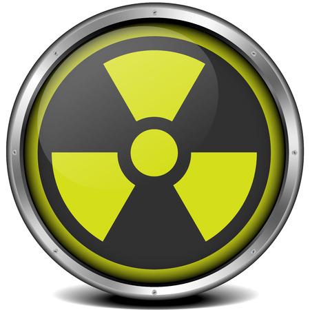 illustration of a metal framed radiation icon Stock Vector - 26740155