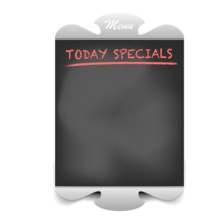 chalkboard menu: detailed illustration of a restaurant chalkboard menu frame