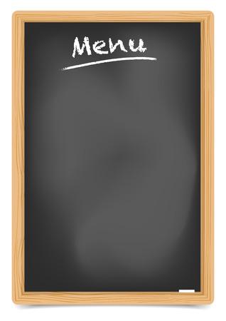 chalkboard menu: detailed illustration of an empty restaurant chalkboard menu frame, eps10 vector