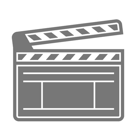 film title: minimalistic illustration of a clapper board, eps10 vector