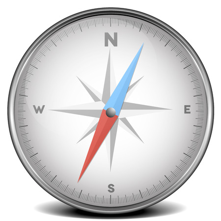 detailed illustration of a compass, eps10 vector 版權商用圖片 - 27331576