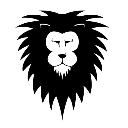 detailed illustration of a lions head, eps10 vector Vector