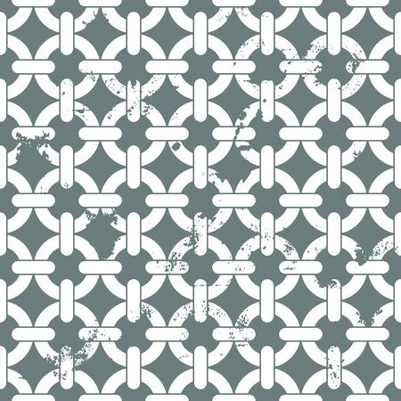 interlocked: illustration of of a seamless interlocked chain background pattern, eps10 vector Illustration