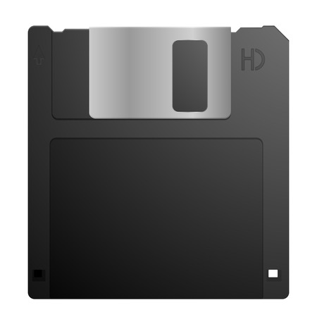 detailed illustration of a 3,5inch floppy disk, eps10 vector Illustration