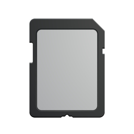 sd: detailed illustration of a modern SD memory Card, eps10 vector