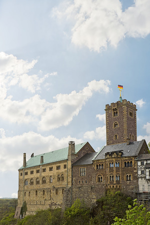 monument historical monument: medieval Wartburg Castle in Eisenach, Germany