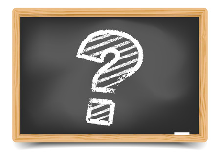 detailed illustration of a questionmark on a Blackboard,  gradient mesh included Vector