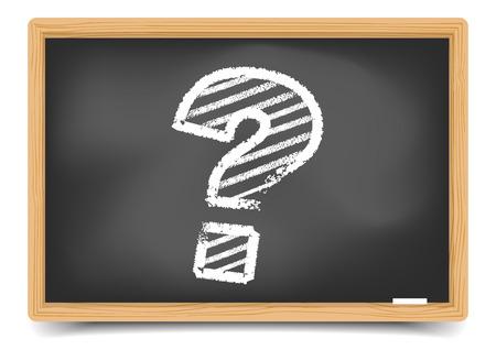 question mark: detaillierte Abbildung von einem Fragezeichen auf einer Tafel, inklusive Verlaufsgitter