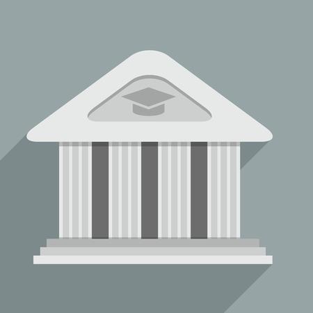 academy: minimalistic illustration of an academy temple building