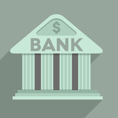 minimalistic illustration of a bank temple building Vector