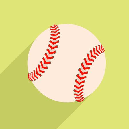 baseball diamond: minimalistic illustration of a baseball
