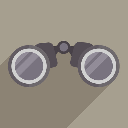 minimalistic illustration of binoculars Vector