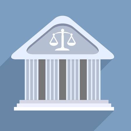 magistrate: minimalistic illustration of a courthouse temple building