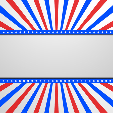 independance: detailed illustration of a banner on a patriotic striped background