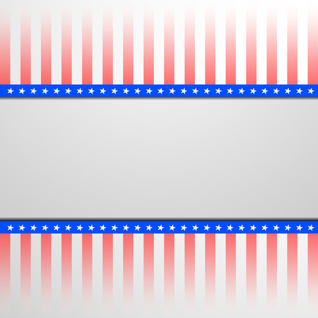 detailed illustration of a banner on a patriotic striped background Vector