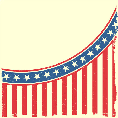 detailed illustration of a grungy stars and stripes backbround Illustration
