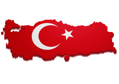3d turkey: detailed illustration of a 3D Map of Turkey
