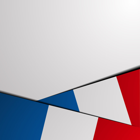 french flag: detailed illustration of a french background with flag elements, eps 10 vector