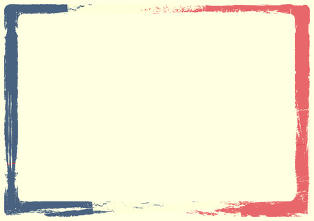 national holiday: detailed background illustration of a french flag with grunge texture and white space