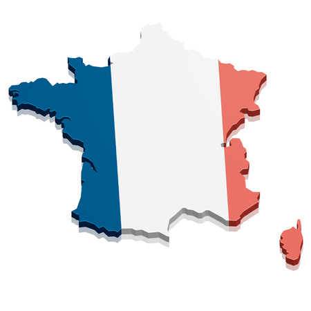 detailed illustration of a map of France Vector