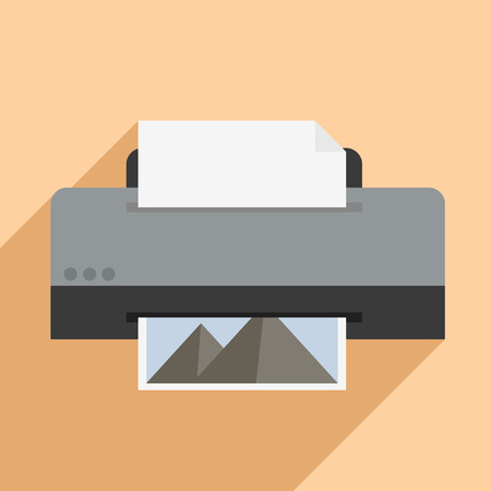 multifunction printer: minimalistic illustration of a printer