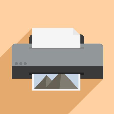 multifunction printer: minimalistic illustration of a printer