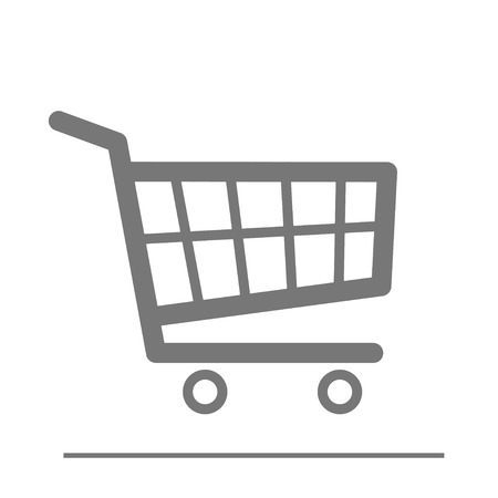 minimalistic illustration of a shopping cart icon  Vector