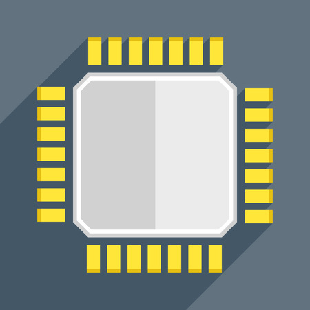 unit: minimalistic illustration of a cpu, eps10 vector