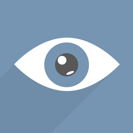 minimalistic illustration of an eye, eps10 vector Vector