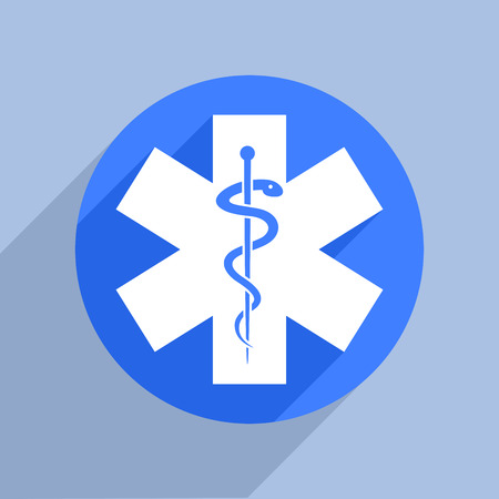 star of life: minimalistic illustration of a star of life, eps10 vector