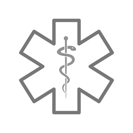 minimalistic illustration of a star of life, eps10 vector