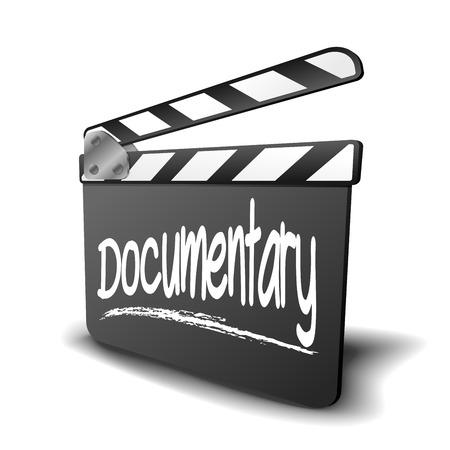 다큐멘터리 용어와 함께 했 보드의 자세한 그림, 영화 및 비디오 장르에 대한 기호