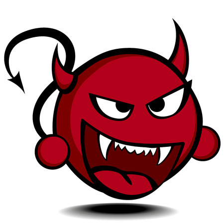 detailed illustration of a stylized red devil