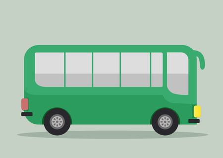 coach bus: minimalistic illustration of a bus, eps10 vector