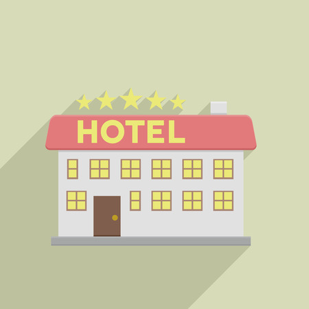 minimalistic illustration of a hotel, eps10 vector Illustration