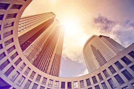 modern office tower in the sun, Frankfurt am Main, Germany