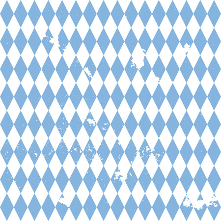 german tradition: detailed illustration of a grungy bavarian background pattern, eps10 vector Illustration