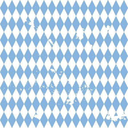 detailed illustration of a grungy bavarian background pattern, eps10 vector Illustration