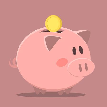 minimalistic: minimalistic illustration of a piggybank, eps10 vector
