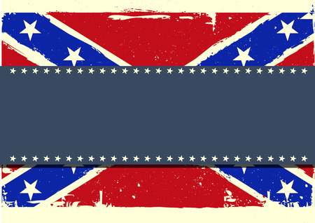 revolutionary war: detailed illustration of a patriotic confederate flag on a grungy background
