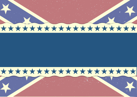 independance: detailed illustration of a grungy patriotic confederate flag