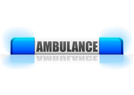 ambulance flashing light Vector