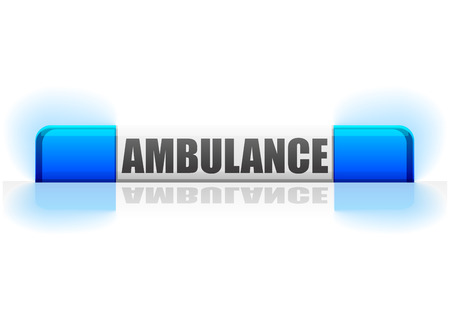red siren: ambulance flashing light