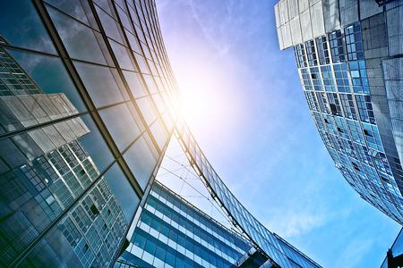 tall glass: modern glass and steel office buildings near Potsdamer Platz, Berlin, Germany