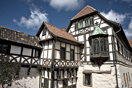 half timbered: historic half timbered house in Eisenach, Germany