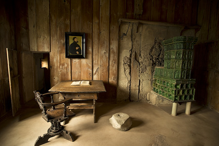 EISENACH - APRIL 14, 2014: Lutherstube - Study chamber of Martin Luther at Wartburg Castle where he translated the Bible