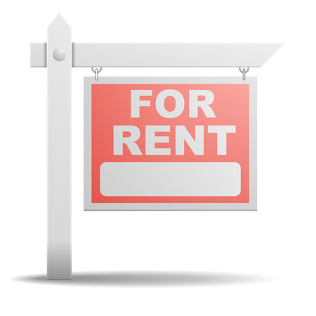 detailed illustration of a For Rent real estate sign