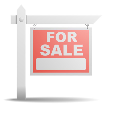 detailed illustration of a For Sale real estate sign Vettoriali