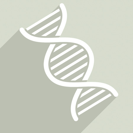 minimalistic illustration of a dna string, eps10 vector Vector